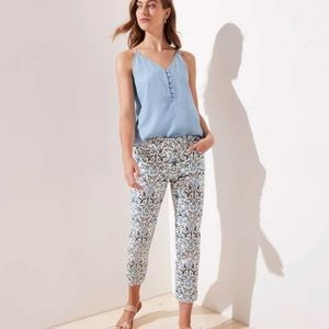 LOFT Women's Marisa Floral Cropped Trousers